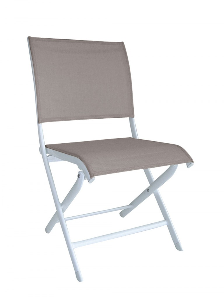 Chaise Elegance OCEO blanc-s-taupe