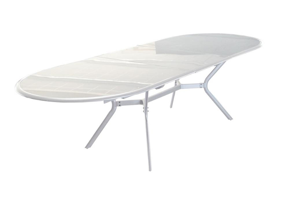 Table ovale Bilbao blanche Océo