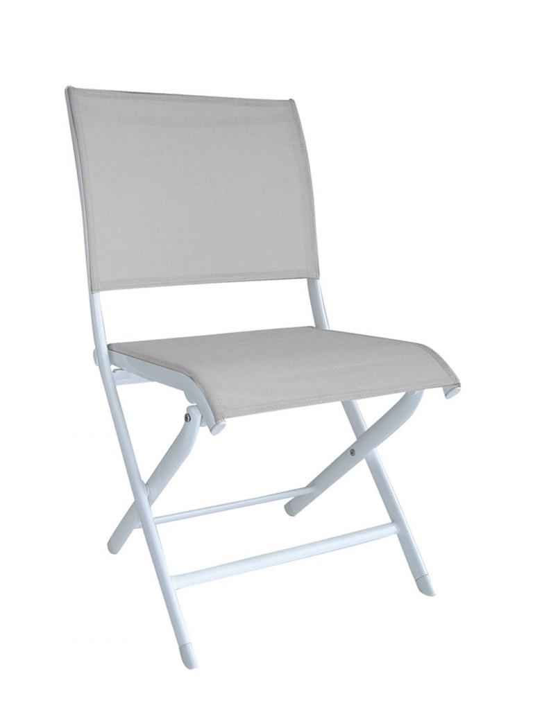 Chaise Elegance OCEO blanc-gris-souris