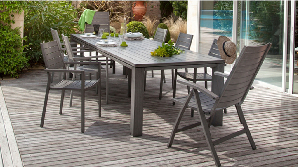 Table latino oc o sun mobilier - Salon de jardin oceo aluminium fiero ...
