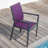Fauteuil Flore OCEO cassis