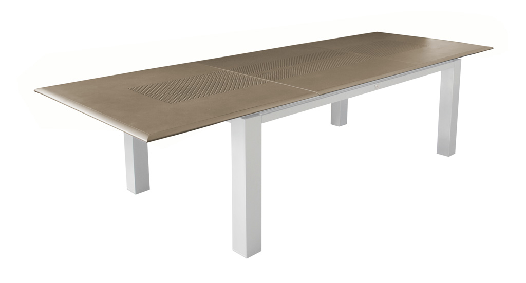 Table Florence OCEO 200-300 blanc-s-taupe