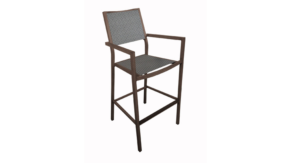 Fauteuil haut Florence OCEO brun-ds-taupe