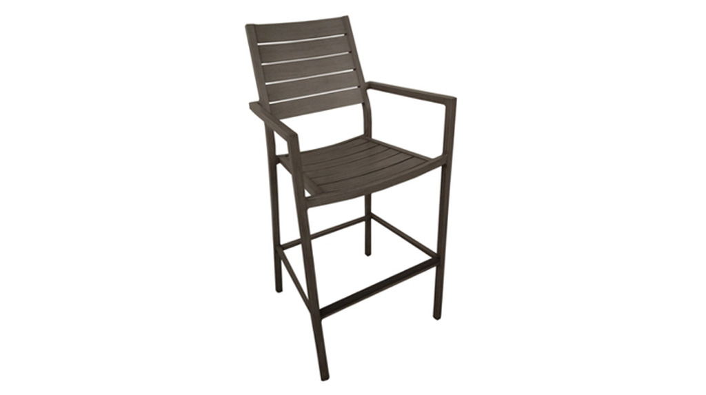 Fauteuil haut Latino brun OCEO