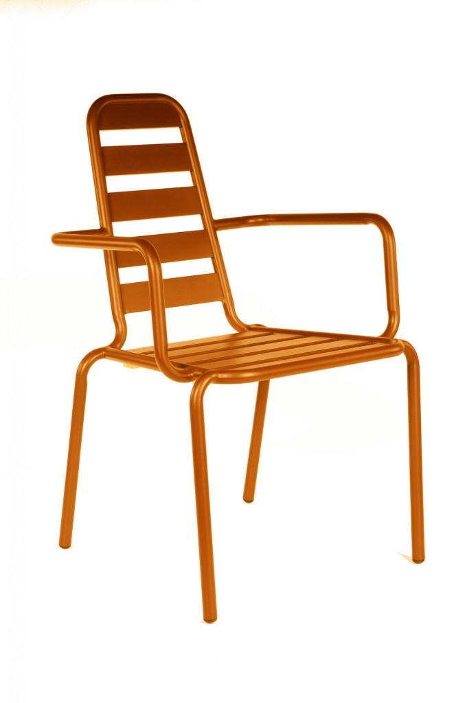 Fauteuil Menu orange OCEO
