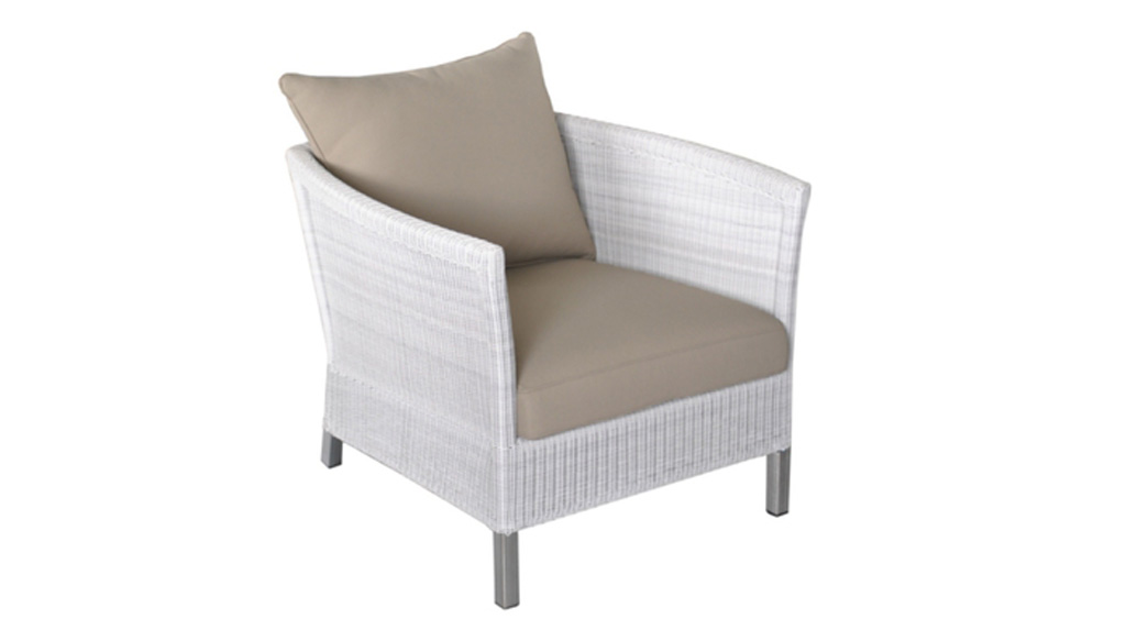 Fauteuil THYME White-Taupe OCEO
