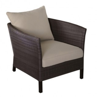 Fauteuil THYME brown-taupe OCEO