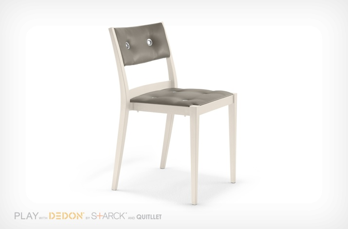 Chaise PLAY Dedon gris/écru