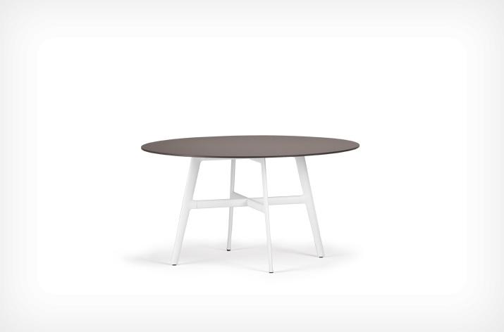 TABLE ronde SEAX DEDON marron