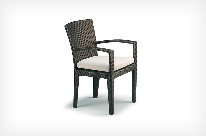 Chaise PANAMA DEDON marron