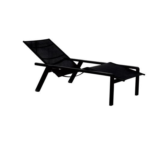 Chaise longue ALURA Royal Botania noire